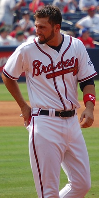 Francoeur playing for the Atlanta Braves in 2008