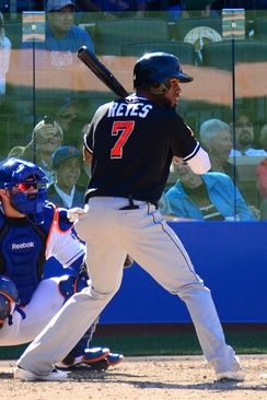 Reyes batting for the Miami Marlins in 2012