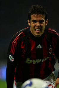Kaká in action with Milan against Torino on 19 April 2009