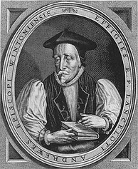 Lancelot Andrewes, named as a Scholar in the charters of 1571 and 1622