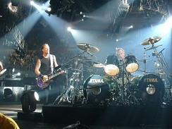 Metallica performing during its Madly in Anger with the World Tour in 2004