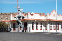 The Amtrak station in downtown Kingman.