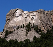 View of Mount Rushmore as seen from the highway