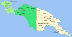 Political divisions of New Guinea