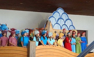 Noye's Fludde: special performance in a rehearsal hall at the Santa Fe Opera, 11 August 2013
