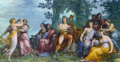 Apollo and the Muses on Parnassus, by Andrea Appiani