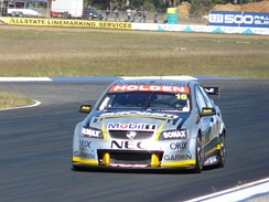 The Holden VE Commodore of Paul Dumbrell at Queensland Raceway 2008.