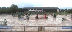 A show jumping course