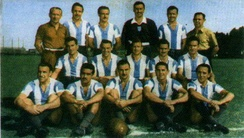 The 1949 Racing team won the first of three consecutive Primera División titles.