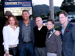 Rise of the Guardians premiere at the Mill Valley Film Festival: Christina Steinberg, producer; Peter Ramsey, director; Jeffrey Katzenberg, DreamWorks Animation's CEO; Nancy Bernstein, producer; Bill Damaschke, DreamWorks Animation's Chief Creative Officer
