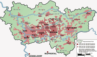 Map of the Ruhr