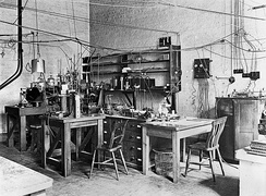 The laboratory of Rutherford, early 20th century