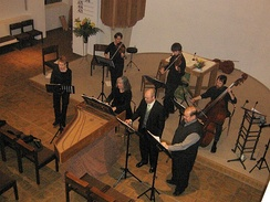 Baroque cantata with one voice per part