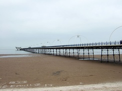 Southport Pier is a Grade II listed structure. At 3,650 feet (1,110 m), it is the second longest in Great Britain.