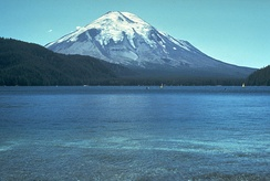 Mt St. Helens before the 1980 eruption (taken from Spirit Lake)