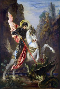 Saint George and the Dragon by Gustave Moreau.