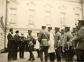 Nicholas II, Stolypin and the Jewish delegation during the Tsar's visit to Kiev in 1911