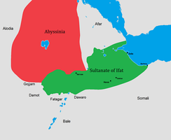 The Ifat Sultanate's realm in the 14th century.