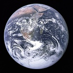 The Blue Marble Earth picture taken during Apollo 17 (1972)