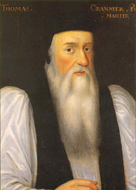 Portrait of Cranmer painted by an unknown artist after Henry VIII's death.[64] It was said that his beard signified his mourning of the king and his rejection of the old Church.