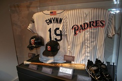 Gwynn's exhibit at the National Baseball Hall of Fame and Museum.