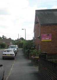 UKIP poster in Egham, Surrey, for the 2009 European elections