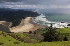 Cascade Head, Oregon, United States, is a UNESCO biosphere reserve