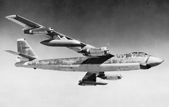USAF Boeing B-47E-50-LM (AF Serial No. 52-3363) in flight.