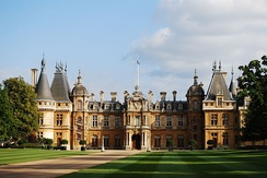 Waddesdon Manor. During the Victorian era, vast country houses by wealthy industrialists and bankers were built in a variety of styles