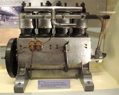 Wright vertical 4-cylinder engine