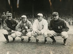 Gehrig, Tris Speaker, Ty Cobb, and Babe Ruth, 1928