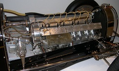 DOHC straight-8 in a 1933 Bugatti Type 59 Grand Prix racer