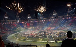 Fireworks at the opening ceremony