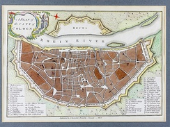A plan published in 1800 shows the mediaeval city wall still intact, locating 16 gates (Nr. 36–51 in the legend), e.g. 47: Eigelsteintor, 43: Hahnentor, 39: Severinstor
