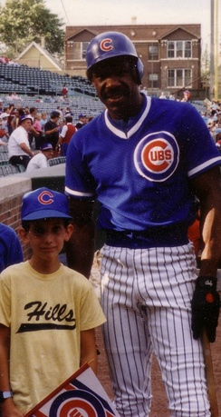 Andre Dawson meeting a young fan in 1988.
