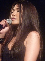 Anggun during her concert in Le Trianon, Paris (2012).