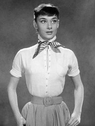 Hepburn in a screen test for Roman Holiday (1953) which was also used as promotional material