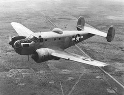 Beechcraft AT-11 over the West Texas prairies, around 1944
