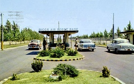 Biggs AFB gate in the late 1950s
