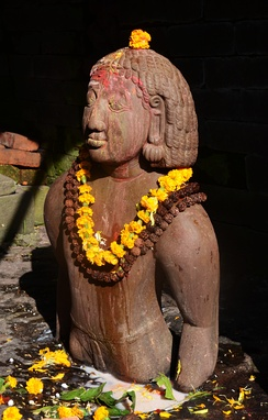 Birupakshya, the ancestor of the Kirati people in the Pashupatinath Temple of Kathmandu.