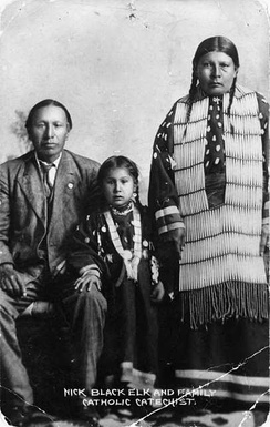 Black Elk with his family around 1910