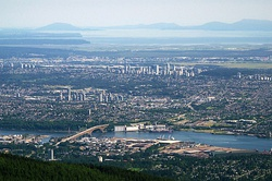 Aerial view of Burnaby (2015)