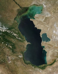 The Caspian Sea is either the world's largest lake or a full-fledged sea[citation needed]