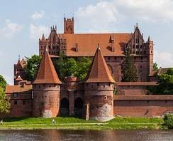 Malbork Castle viewed over the Nogat River