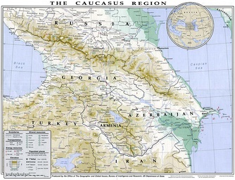1994 map of Caucasus region prepared by the U.S. State Department