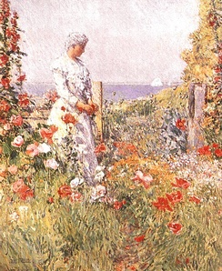 Celia Thaxter in her Garden, 1892, Smithsonian Institution