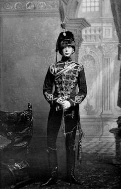 Winston Churchill as Cornet of the 4th Queen's Own Hussars, aged 21 (1895)