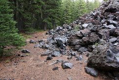 Basaltic andesite in the Cascade Range