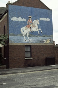 Loyalist mural in Donegall Pass, south Belfast, 1984