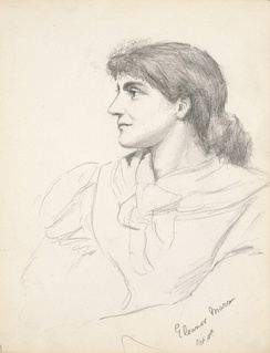 Eleanor Marx, pencil drawing by Grace Black in 1881